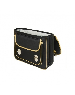 Large black mask satchel