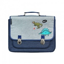 Medium bicolor Dino's World satchel
