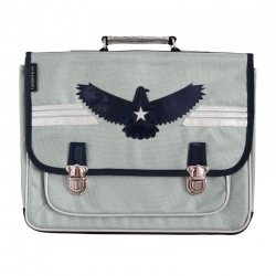 Grand cartable Aigle gris