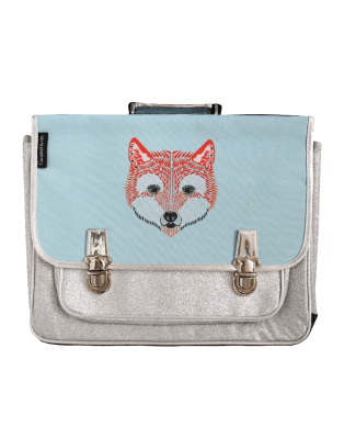 Large Fox glitter satchel