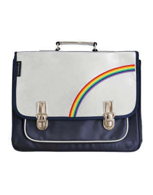 Large navy Rainbow satchel