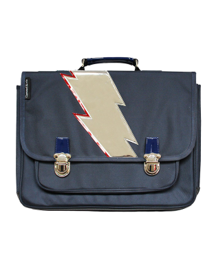 Large Schoolbag Blue lightning