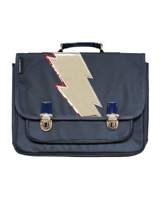 Large Blue Lightning satchel