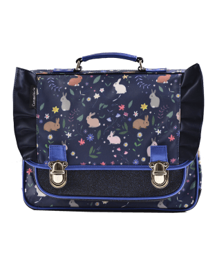Large schoolbag Blue Rabbits