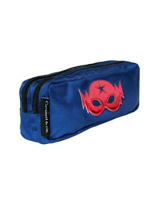 Double Pencil Case Blue Mask
