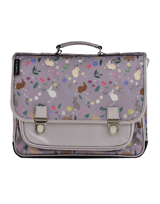 Large Schoolbag Purple Rabbits