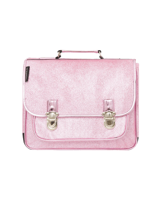 Cartable moyen Rose paillette