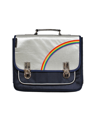 Medium Blue Rainbow satchel