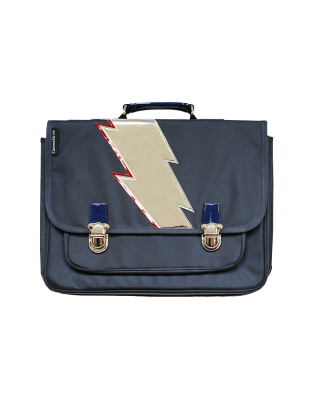 Cartable Medium Eclair Bleu