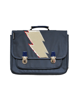 Medium Blue Lightning satchel