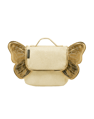 Sac papillon paillettes or