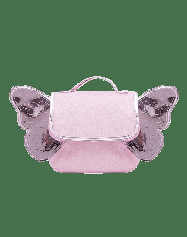 Pink glitter butterfly bag