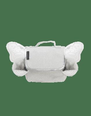 Silver glitter butterfly bag