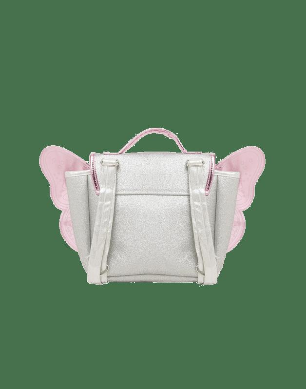 Butterfly bag Silver & Pink glitter