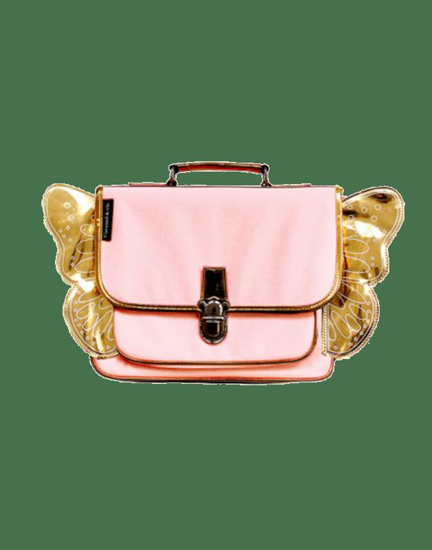 Mini winged pink schoolbag