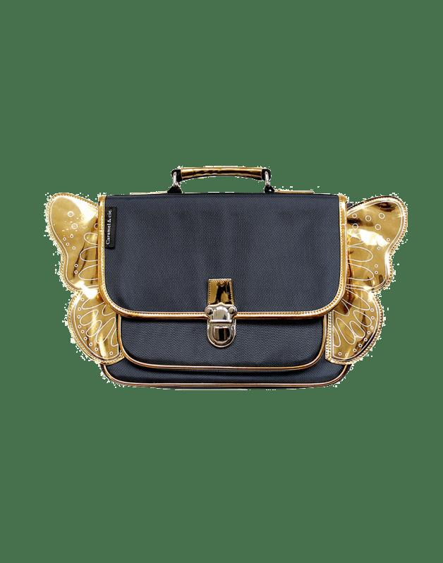 Mini winged night blue schoolbag