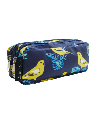 Double Pencil Case Canaries