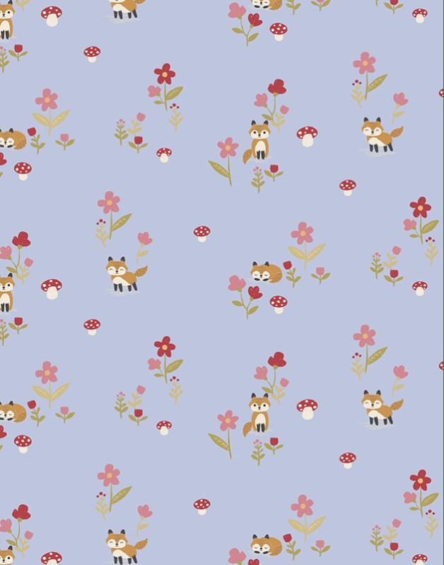Double Pencil Case Little Foxes