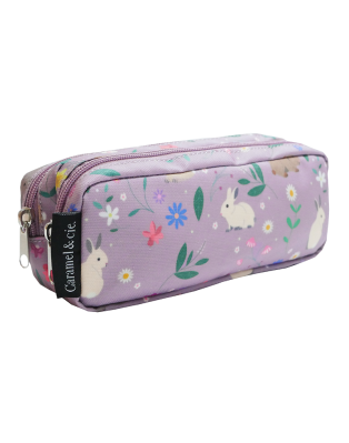 Double Pencil Case Purple...