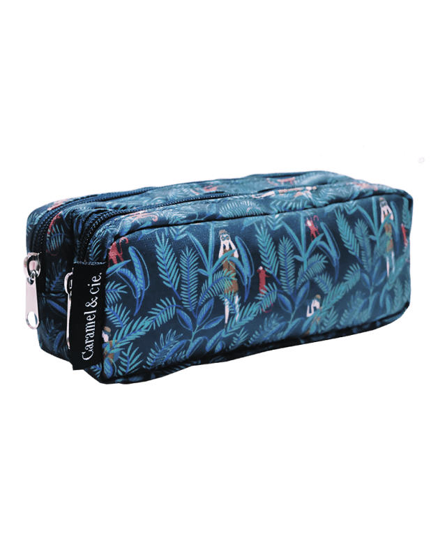 Double Pencil Case Jungle