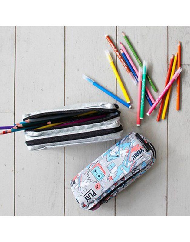 Double Tiger pencil case