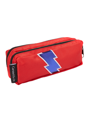 Trousse Double Eclair Rouge