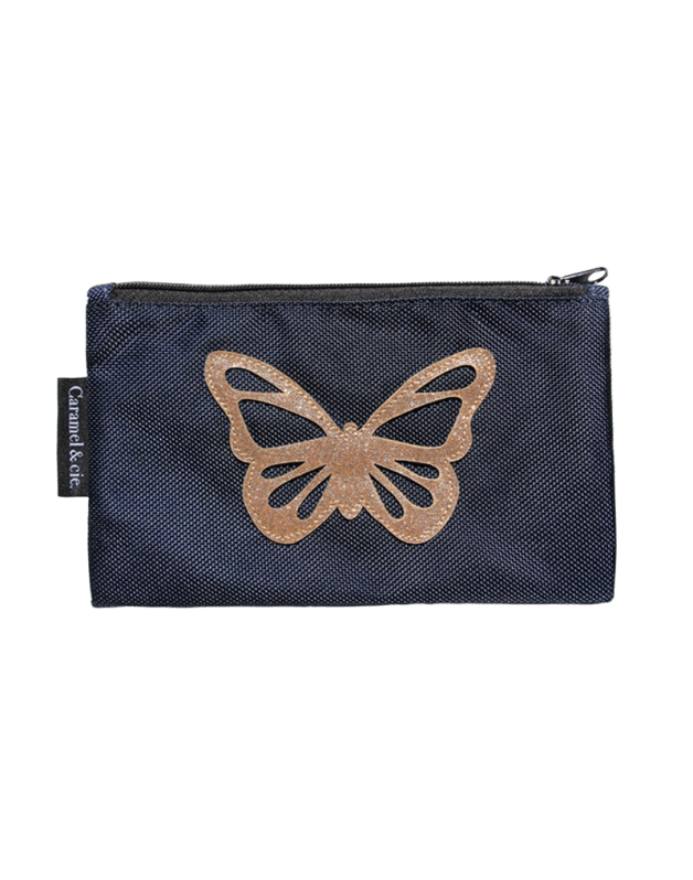 Large pencil case Butterfly blue