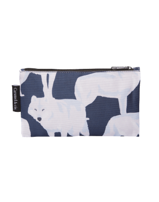 Large pencil case white wolves