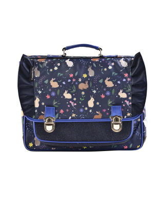 Medium Schoolbag Blue Rabbits