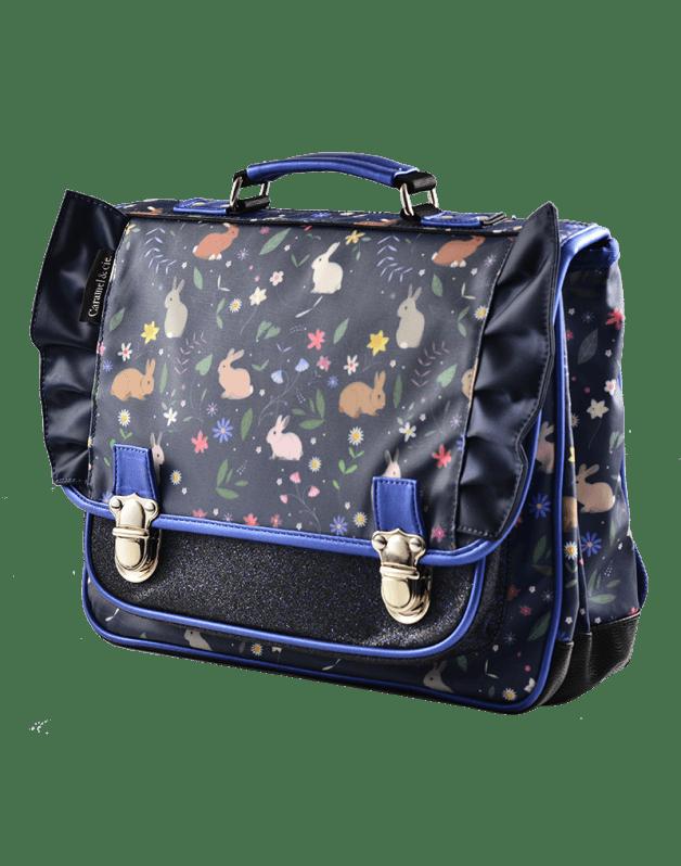 Medium Schoolbag Blue Rabbits