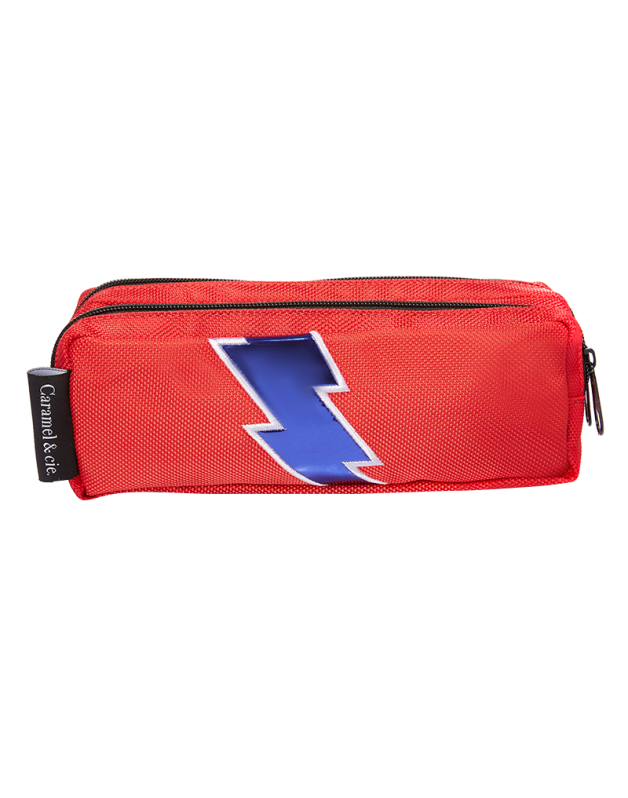 Double Pencil Case Red Lightning