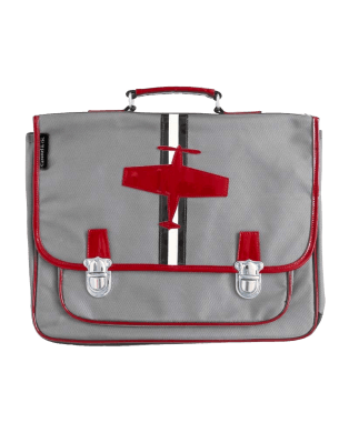 Large Grey Plane satchel