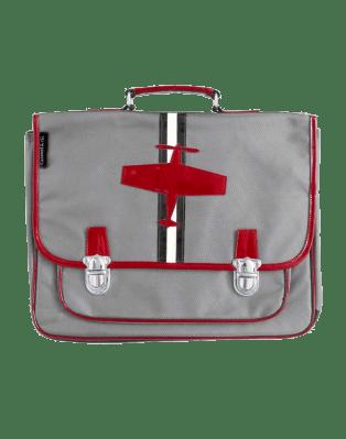 Large Grey Plane satchel