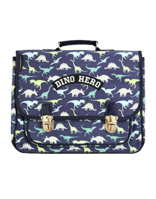 Grand cartable Dino Hero Bleu