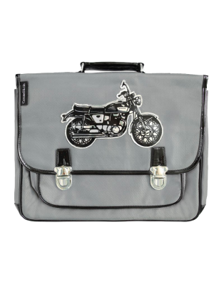 Grand cartable Moto gris