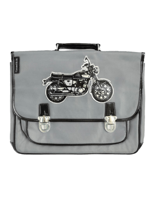 Large Grey Motorbike satchel