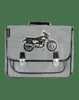 Large Grey Motorbike satchel