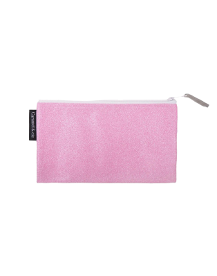 Large pencil case pink glitter