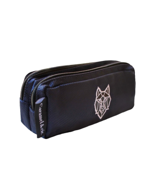 Double Wolf pencil case
