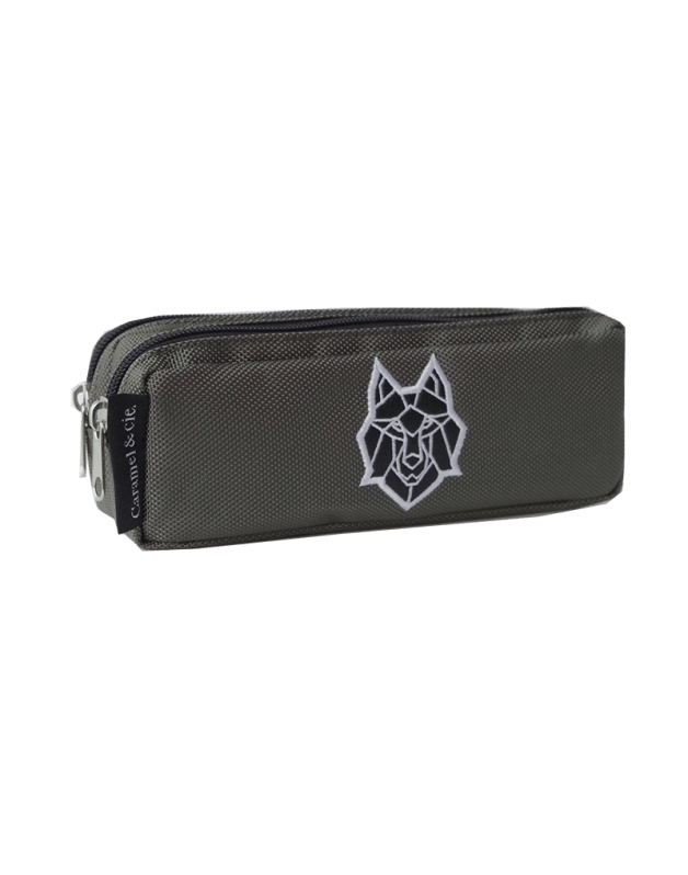 Double Pencil Case Grey Wolf