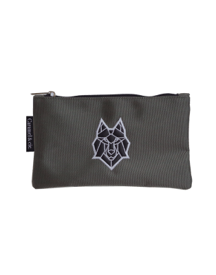Large pencil case grey Wolf
