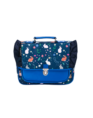 Mini schoolbag blue rabbits