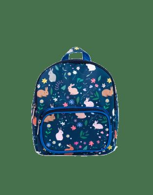 Mini backpack blue rabbits