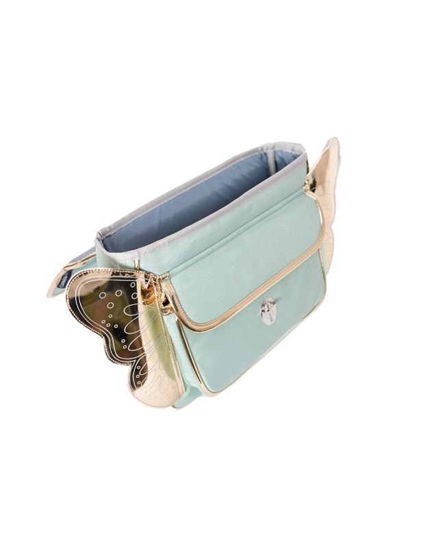 Mini winged green schoolbag