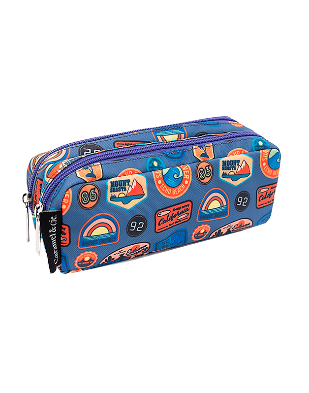 Double pencil case Road trip