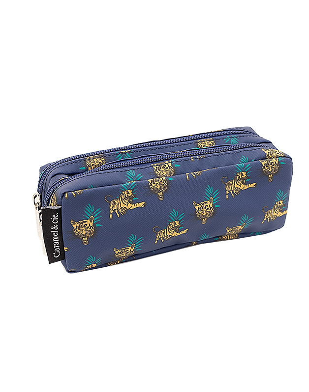 Double pencil case Bengal tigers