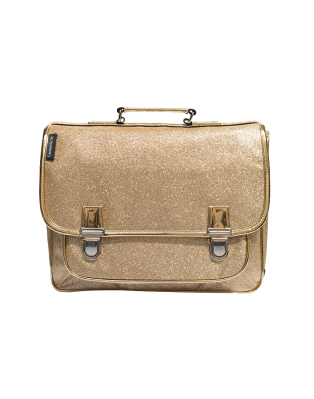Medium schoolbag Gold Glitter