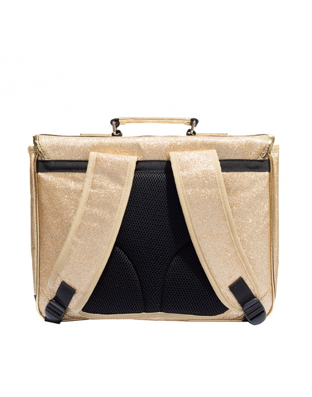 Large schoolbag Gold Glitter