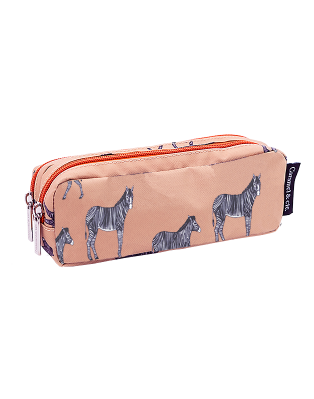 Double pencil case Zebra