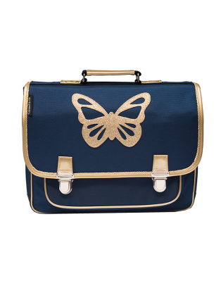 Cartable moyen Papillon bleu